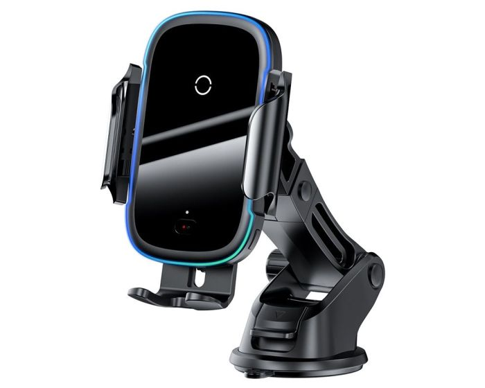 Baseus Le Dash Car Mount with Qi Wireless Charger - Black