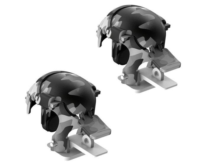 Baseus Level 3 Helmet PUBG Handle Extra Buttons Scoring Tool (GMGA03-A02) Gaming Κουμπιά για Smartphone Camo White