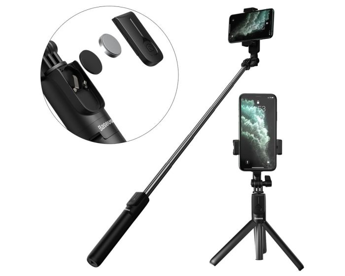 Baseus Lovely 2 Bluetooth Wireless Tripod / Selfie Stick για Κινητά - Black