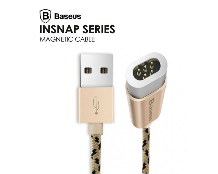 Baseus Insnap Series Magnetic Premium Καλώδιο Γρήγορης Φόρτισης 1 Μέτρου χωρίς μαγνητικό βύσμα - Gold