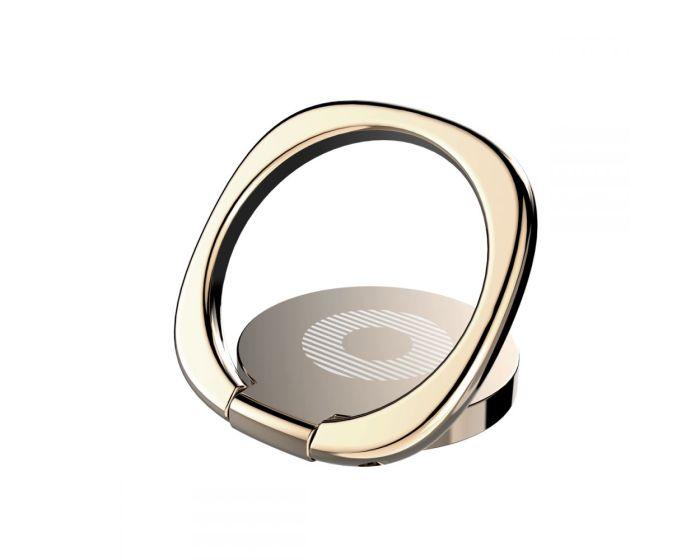 BASEUS Multifunctional Magnetic 360 Ring - Δαχτυλίδι Συγκράτησης Gold