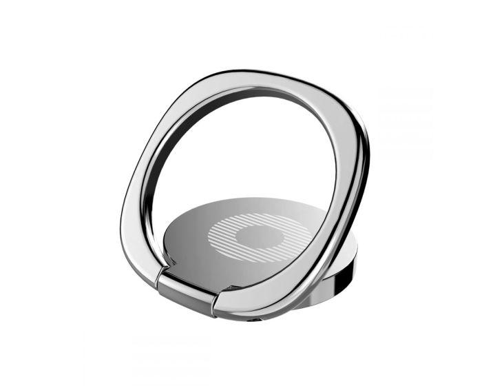 BASEUS Multifunctional Magnetic 360 Ring - Δαχτυλίδι Συγκράτησης Silver