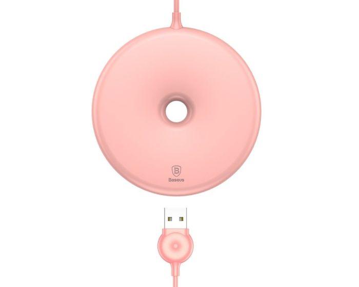 Baseus Qi Donut Wireless Charger Ασύρματος Φορτιστής - Pink