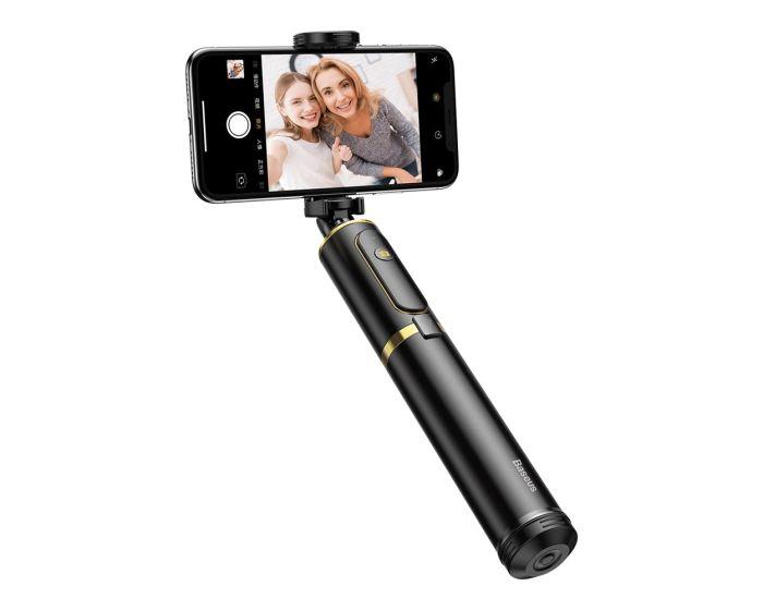 Baseus Selfie Stick + Tripod (SUDYZP-D1S) Bluetooth Selfie Stick για Κινητά - Gold