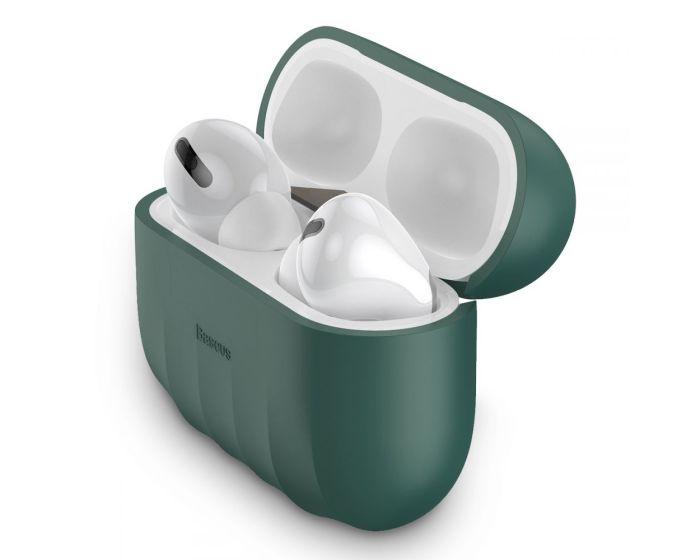 Baseus Shell Airpods Pro Silica Gell Case - Pine Green