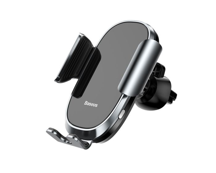Baseus Smart Car Mount Gravity Air Vent Electric Auto Lock Holder (SUGENT-ZN0S) Silver