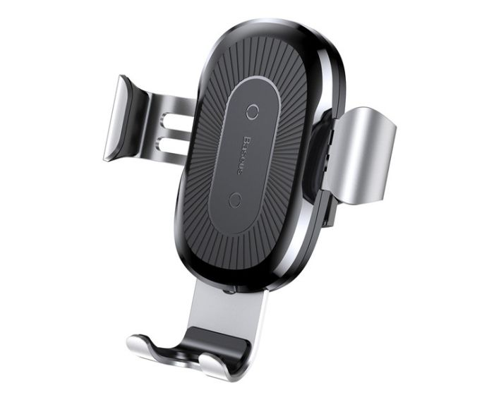 Baseus Qi Wireless Fast Charger Air Vent Gravity Car Mount Silver