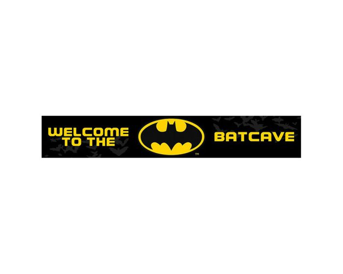 Batman (Welcome to the Batcave) Wooden Sign - Ξύλινη Ταμπέλα Διακόσμησης 13x80cm