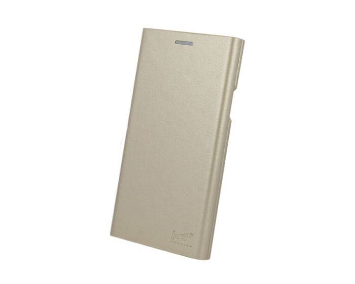 Beeyo Book Grande Wallet Case Θήκη Πορτοφόλι με Stand - Gold (Huawei P9 Lite Mini)