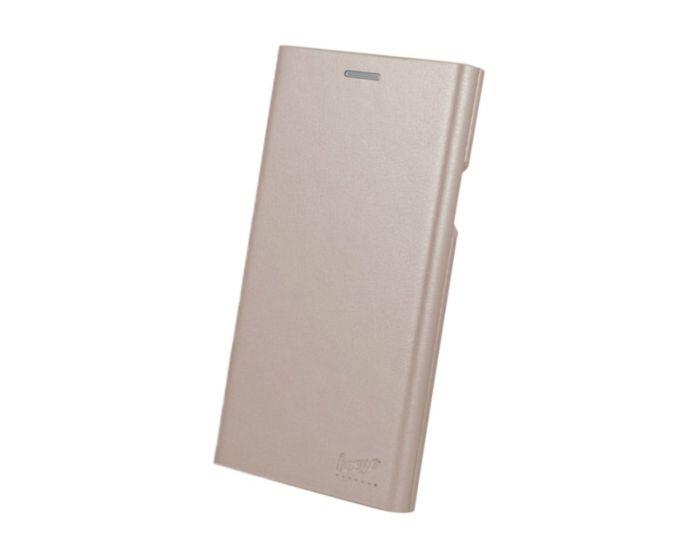 Beeyo Book Grande Wallet Case Θήκη Πορτοφόλι με Stand - Rose Gold (Huawei P9 Lite Mini)