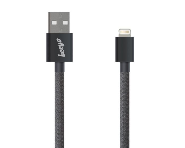 Beeyo Twine Cable 2A Data Sync & Charging Lightning 1m Black