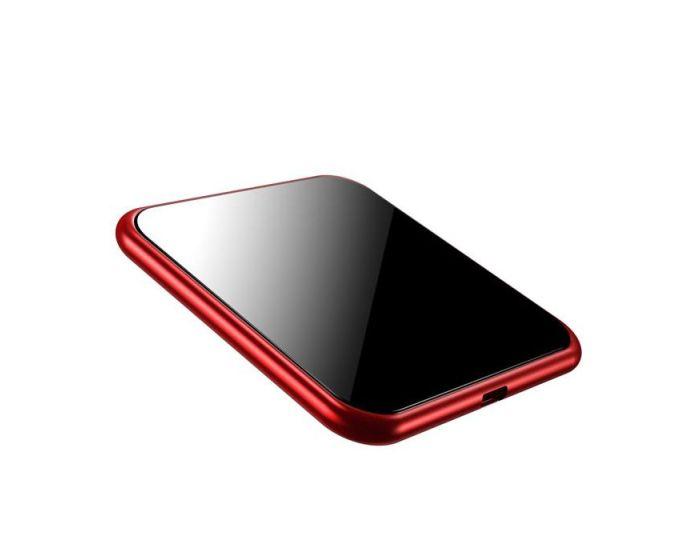 Benks Thin Cube 10W Wireless Desktop Qi Fast Charger Ασύρματος Φορτιστής - Red