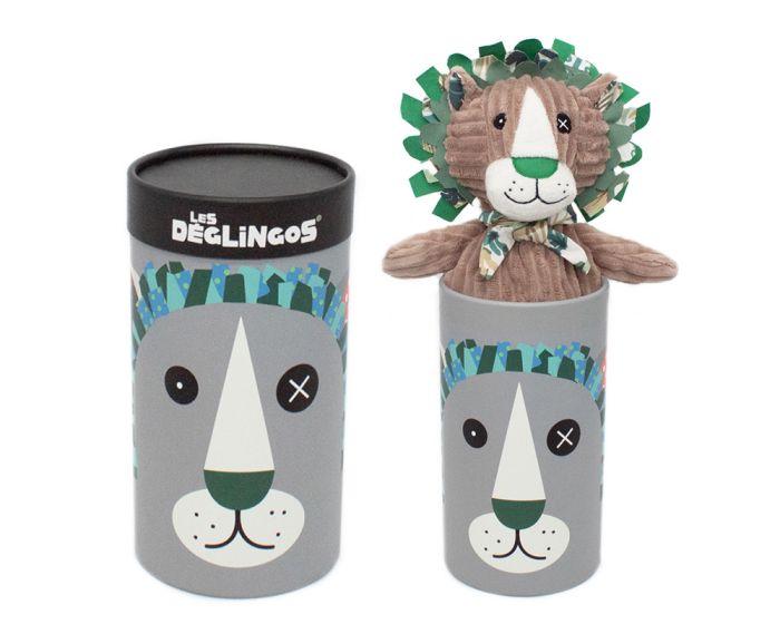 Les Deglingos Big Simply Βελούδινο Λιοντάρι σε Κουτί - Jelekros