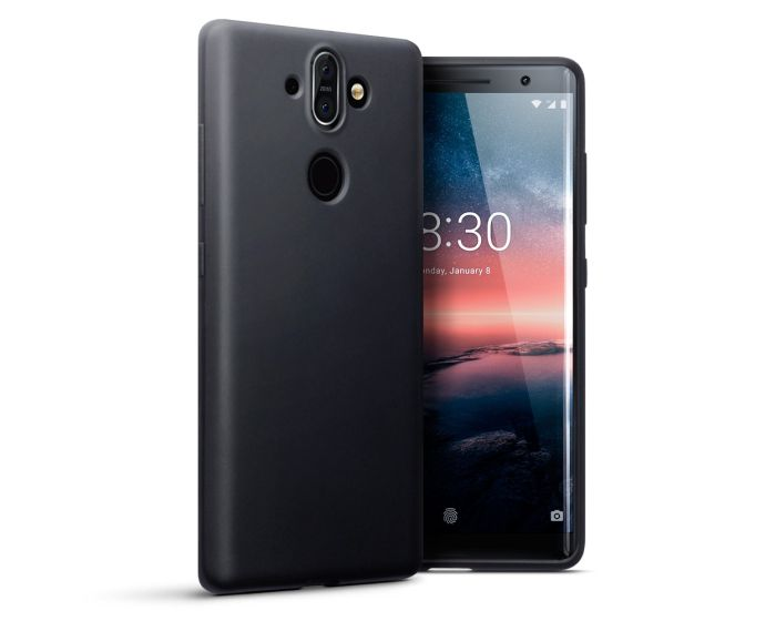 Terrapin Θήκη Σιλικόνης Slim Fit Silicone Case (118-001-250) Black Matte (Nokia 8 Sirocco)