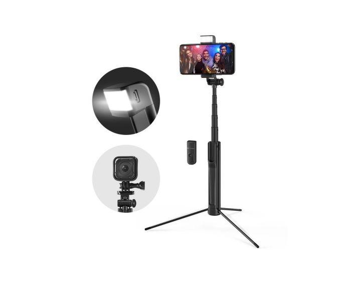 BlitzWolf BW-BS8 Selfie Stick / Tripod with Fill Light για Κινητά - Black