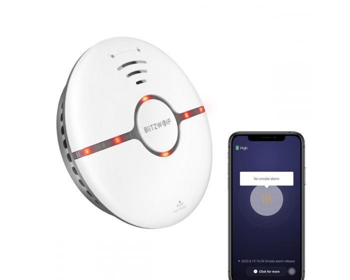 Blitzwolf BW-IS7 Wi-Fi Smoke Detector Ανιχνευτής Καπνού - White