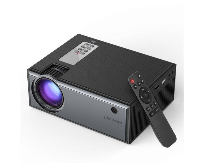 BlitzWolf BW-VP1 Home Cinema Projector with Remote Control Προβολέας - Black