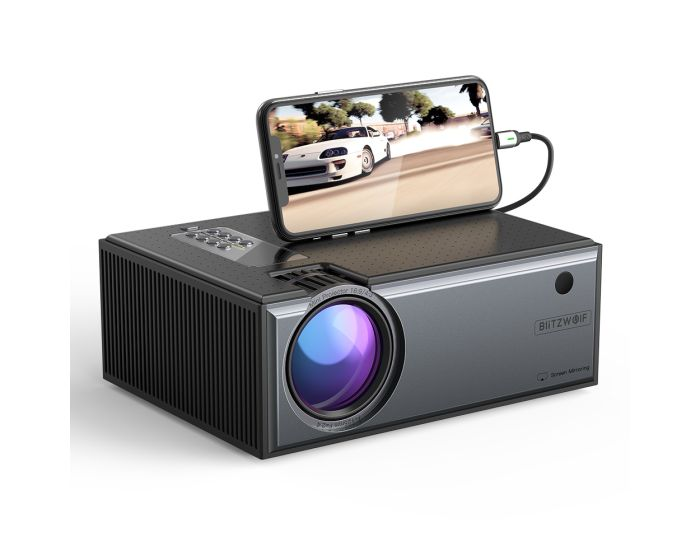 BlitzWolf BW-VP1 Pro Home Cinema Projector with Remote Control / Phone Mirroring Προβολέας - Black