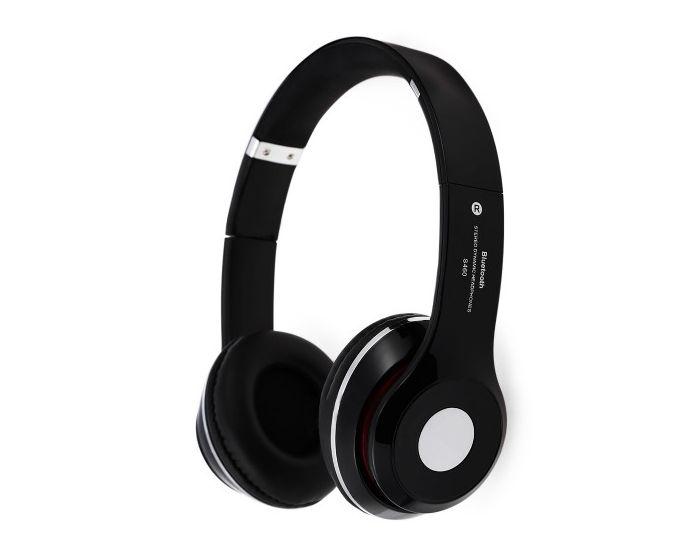 Bluetooth Wireless Headphones S460 Ασύρματα Στερεοφωνικά Ακουστικά Black