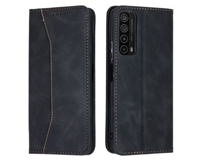 Bodycell PU Leather Book Case Θήκη Πορτοφόλι με Stand - Black (Huawei P Smart 2021)