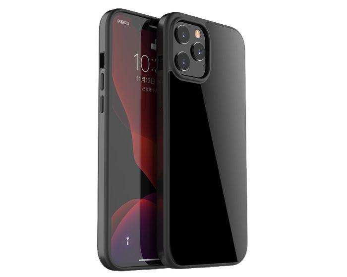 Bodycell Glass Back Aluminium Bumper Case Black (iPhone 12 / 12 Pro)