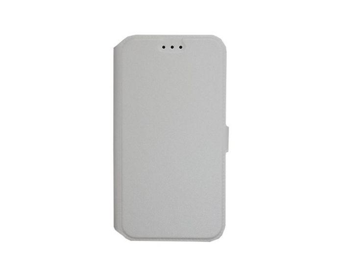 Tel1 Book Pocket Stand Case Θήκη Πορτοφόλι Λευκή (Samsung Galaxy J2)