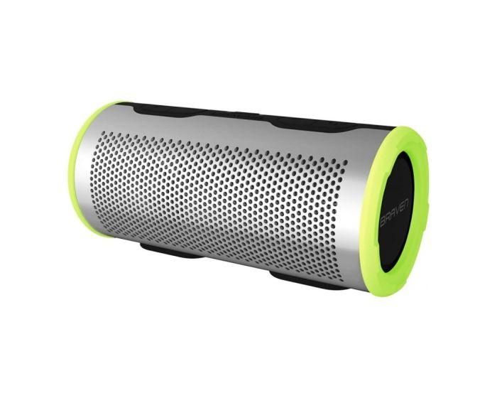 Braven Stryde 360 Αδιάβροχο Φορητό Ηχείο Bluetooth - Silver / Lime