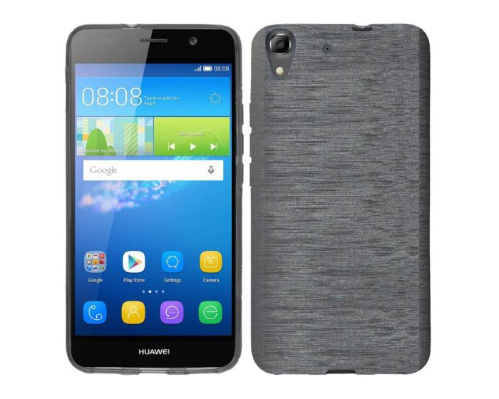 Forcell Jelly Brushed Slim Case Θήκη Σιλικόνης Black (Huawei Ascend G620s)