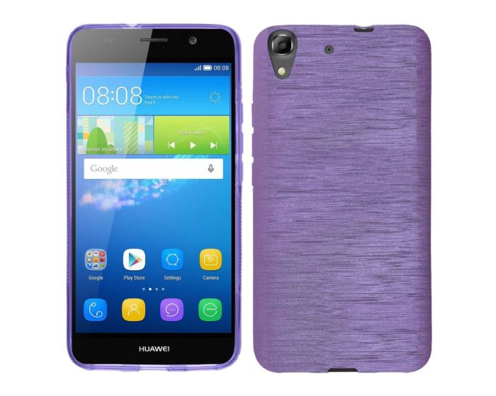 Forcell Jelly Brushed Slim Case Θήκη Σιλικόνης Purple (Huawei Ascend G620s)