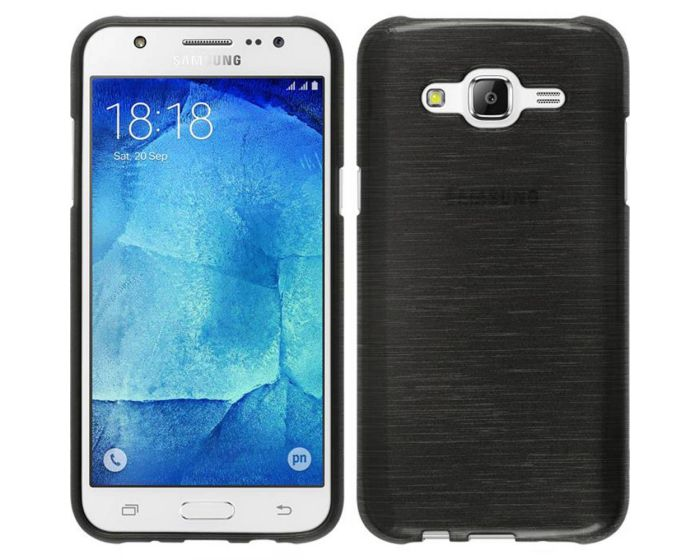 Forcell Jelly Brushed Slim Case Θήκη Σιλικόνης Black (Samsung Galaxy Grand Neo / Neo Plus)