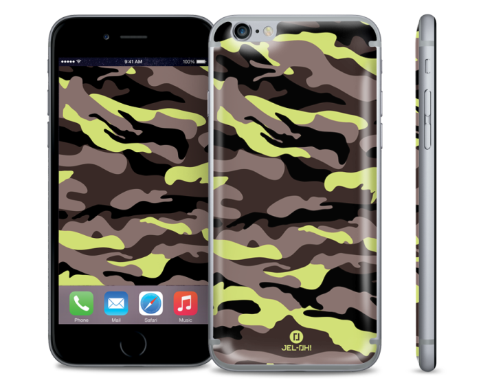 Jel-Oh! Selfie Camouflage Lime Gel for iPhone 6 / 6s
