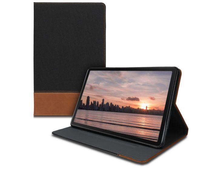 KWmobile Canvas Slim Case Stand (47846.02) Black / Brown (Samsung Galaxy Tab A 10.1 2019)