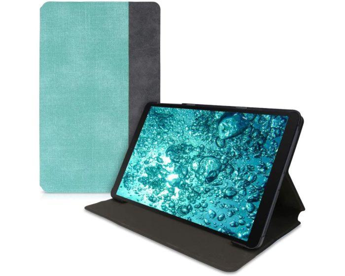 KWmobile Canvas Slim Case Stand (52090.01) Mint / Dark Grey (Samsung Galaxy Tab A 10.1 2019)