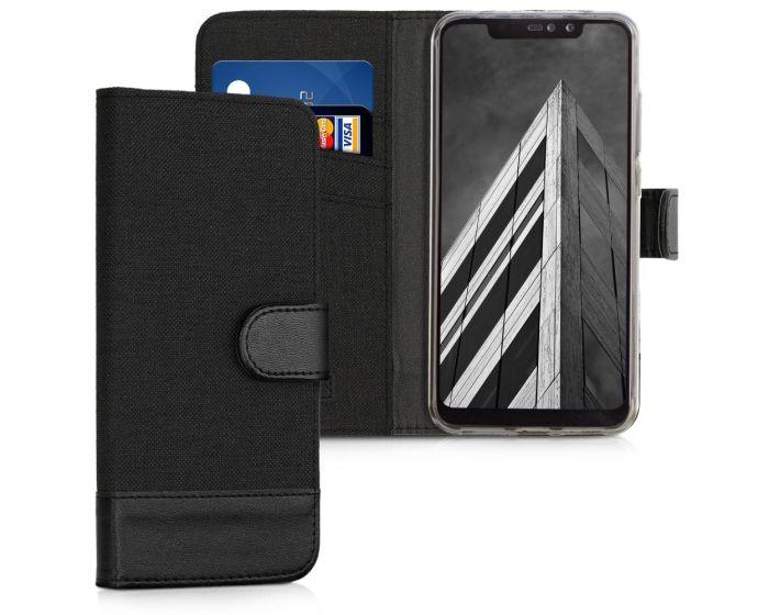 KWmobile Canvas Wallet Case (46872.73) Θήκη Πορτοφόλι με δυνατότητα Stand Black / Black (Xiaomi Redmi Note 6 Pro)