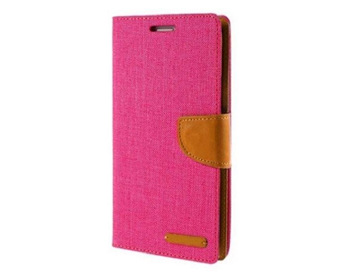 Forcell Canvas Diary Υφασμάτινη Θήκη Πορτοφόλι με δυνατότητα Stand Pink (Samsung Galaxy J4 2018)