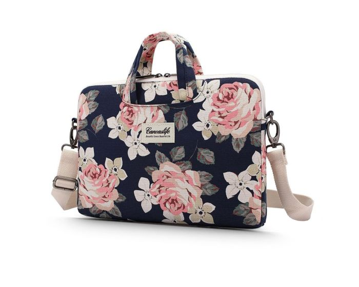 Canvaslife Briefcase Θήκη Τσάντα για MacBook / Laptop 13'' - 14'' Navy Rose