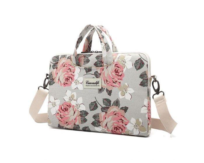 "Canvaslife Briefcase Θήκη Τσάντα για Macbook / Laptop 15"" - 16"" White Rose"