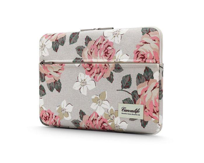 Canvaslife Sleeve Θήκη Τσάντα για MacBook / Laptop 13'' - 14'' White Rose