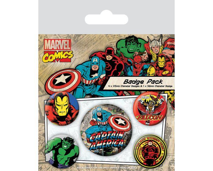 Marvel Comics (Captain America) Badge Pack - Σετ 5 Κονκάρδες