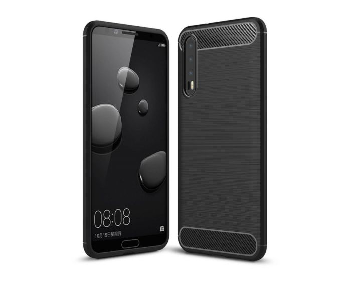 Carbon Rugged Armor Case (HSC041) Black (Huawei P20 Pro)