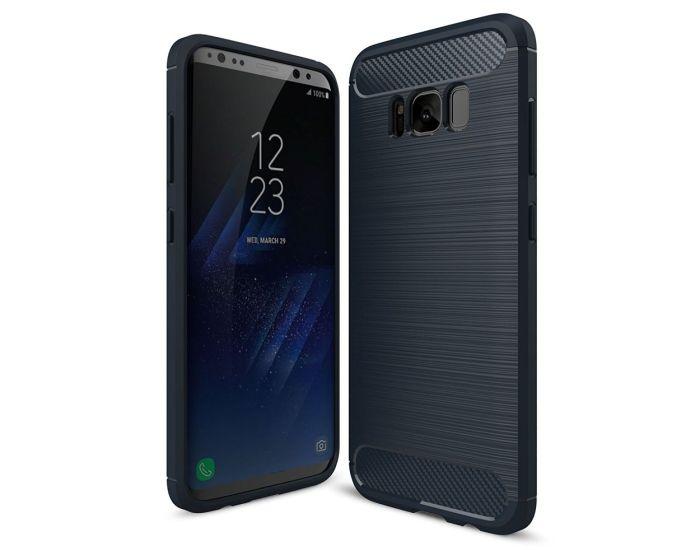 TPU Carbon Rugged Armor Case Ανθεκτική Θήκη Dark Blue (Samsung Galaxy S8 Plus)