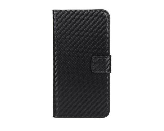 Carbon Wallet Case Θήκη Πορτοφόλι με Δυνατότητα Stand + Μεμβράνη Οθόνης (HTC One A9)
