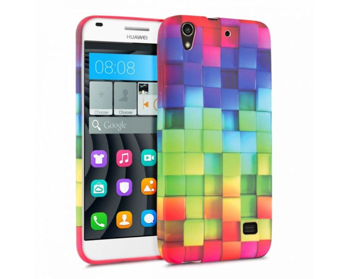 KWmobile Θήκη Σιλικόνης Slim Fit Silicone Case (28782.01) Rainbow Cubes (Huawei Ascend G620s)