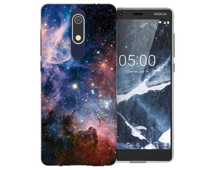 Caseflex Slim Fit Gel Case Constellation (CUV-N51-Z258) Θήκη Σιλικόνης Μπλε (Nokia 5.1 2018)