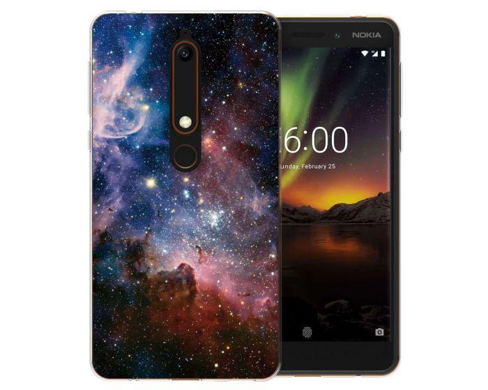 Caseflex Slim Fit Gel Case Constellation (CUV-NO6-Z258) Θήκη Σιλικόνης Μπλε (Nokia 6.1 2018)