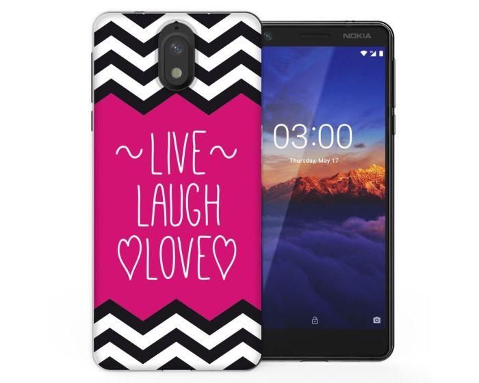 Caseflex Slim Fit Gel Case Live Laugh Love (CUV-N31-Z102) Θήκη Σιλικόνης Heart (Nokia 3.1 2018)