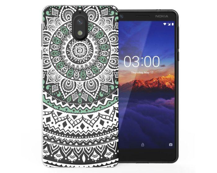 Caseflex Slim Fit Gel Case Mandala (CUV-N31-Z344) Θήκη Σιλικόνης Mint / Green (Nokia 3.1 2018)
