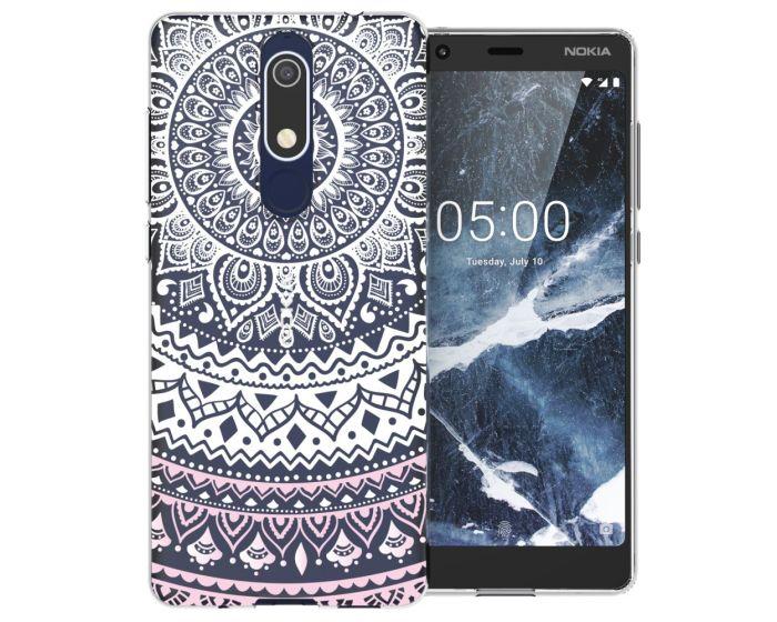 Caseflex Slim Fit Gel Case Mandala (CUV-N51-Z345) Θήκη Σιλικόνης Pink (Nokia 5.1 2018)