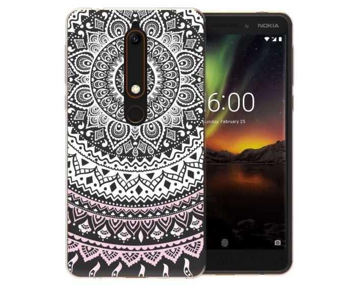 Caseflex Slim Fit Gel Case Mandala (CUV-NO6-Z345) Θήκη Σιλικόνης White (Nokia 6.1 2018)