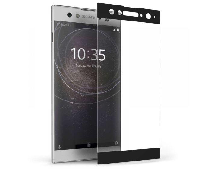 Caseflex 3D Full Face Curved Black Αντιχαρακτικό Γυαλί 9H Tempered Glass (Sony Xperia XA2)